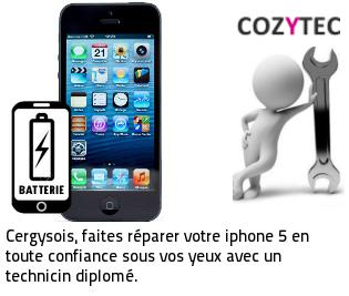 Reparation batterie iPhone 5 Cergy